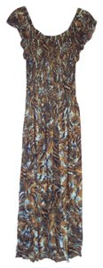 Tiger Print Maxi Dress by Imported-India