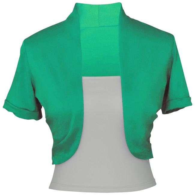 Preload https://item3.tradesy.com/images/green-short-sleeve-bolero-shrug-w-tube-top-2-separate-pieces-spring-jacket-size-12-l-123942-0-2.jpg?width=400&height=650