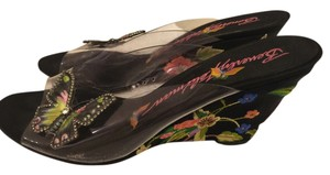 Beverly Feldman Multi color black Wedges