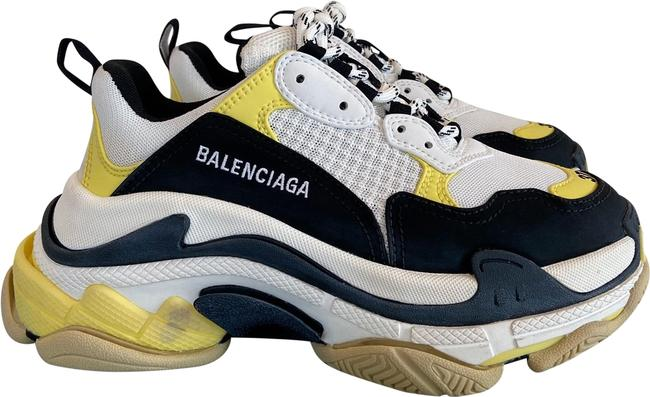 Item - Black Yellow White Eu37/Us7 Triple S Sneakers Size EU 37 (Approx. US 7) Regular (M, B)
