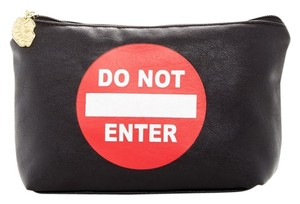 Betsey Johnson NEW Betsey Johnson 'Do Not Enter' Cosmetic Pouch or Clutch Bag, LB22100