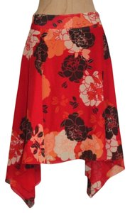 Kenneth Cole Full Circle Asymmetric Skirt RED