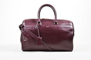 Saint Laurent Burgundy Satchel in Purple