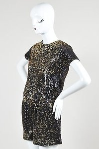 Shoshanna Black Sequin Dress