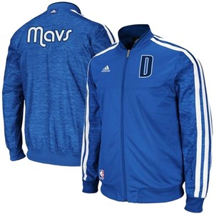 adidas Dallas Mavericks On-Court Weekday Full Zip Track Jacket Blue 2XL