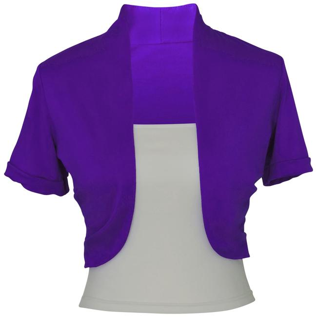 Preload https://item5.tradesy.com/images/purple-short-sleeve-bolero-shrug-w-tube-top-2-separate-pieces-cardigan-size-24-plus-2x-123954-0-1.jpg?width=400&height=650