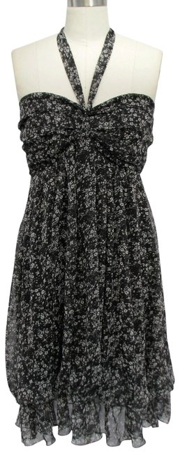 Preload https://item3.tradesy.com/images/black-sweet-printed-design-and-pleated-bust-chiffon-sundress-halter-top-size-8-m-123957-0-2.jpg?width=400&height=650