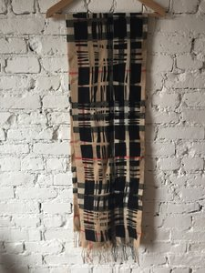 Burberry Burberry Camel Check Wool Scarf