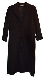 Larry Levine Long Wool Trench Coat