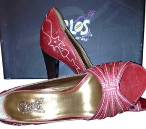 Carlos by Carlos Santana Dusk Red Rose Pumps
