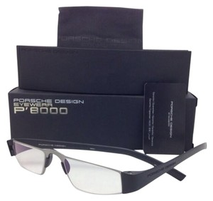 PORSCHE DESIGN New Reader PORSCHE DESIGN Eyeglasses P'8801 A 48-20 +1.50 Silver & Black Frame Readers