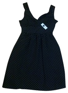 Gap short dress navy blue Polka Dot White on Tradesy
