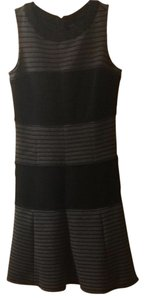 Taylor short dress Black/Gray Striped on Tradesy