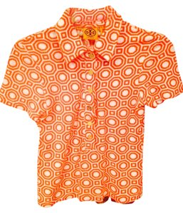 Tory Burch Top Orange/white