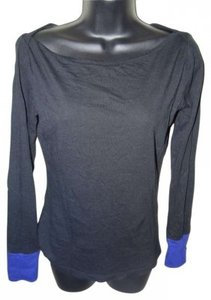 Jonathan Saunders Fashionable Boat Neck Long Sleeved Top black