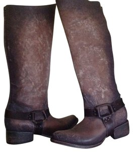 FreeBird Steven Philly Western Leather Gray/Tan Boots