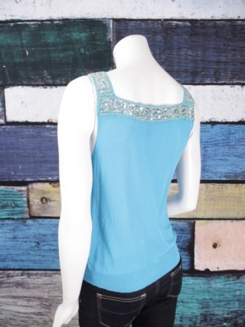 Other Iisli Mesh Crochet Lace Sequin Blouse Shirt Top Blue, Yellow Image 1