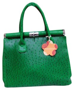 Expressions Faux Leather Satchel in Green