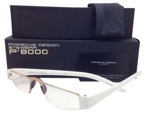 PORSCHE DESIGN New Readers PORSCHE DESIGN Eyeglasses P'8801 C 48-20 +1.00 Gold & White Frame