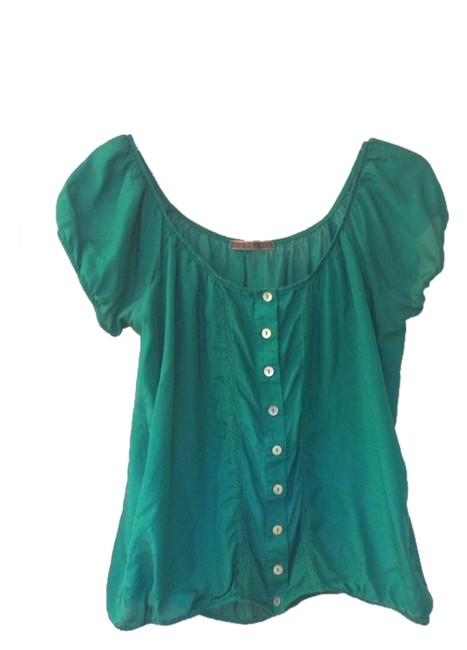 Velvet by Graham & Spencer Top Green