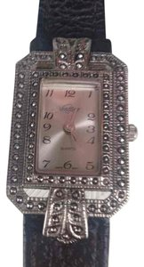 MARCASITE ART DECO GENUINE MARCASITE SQUARE FACE WATCH