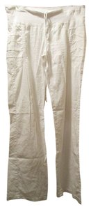 XCVI Cotton/silk Drawstring Waist Shirred At The Hips Wide Leg Pants White