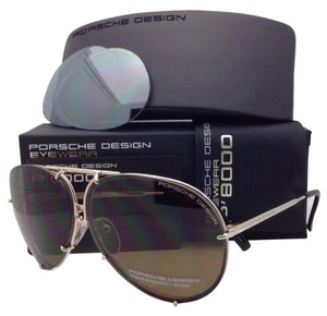 PORSCHE DESIGN New PORSCHE DESIGN Titanium Aviator Sunglasses P'8478 A 63-10 Gold Frame with 2 Lens Sets