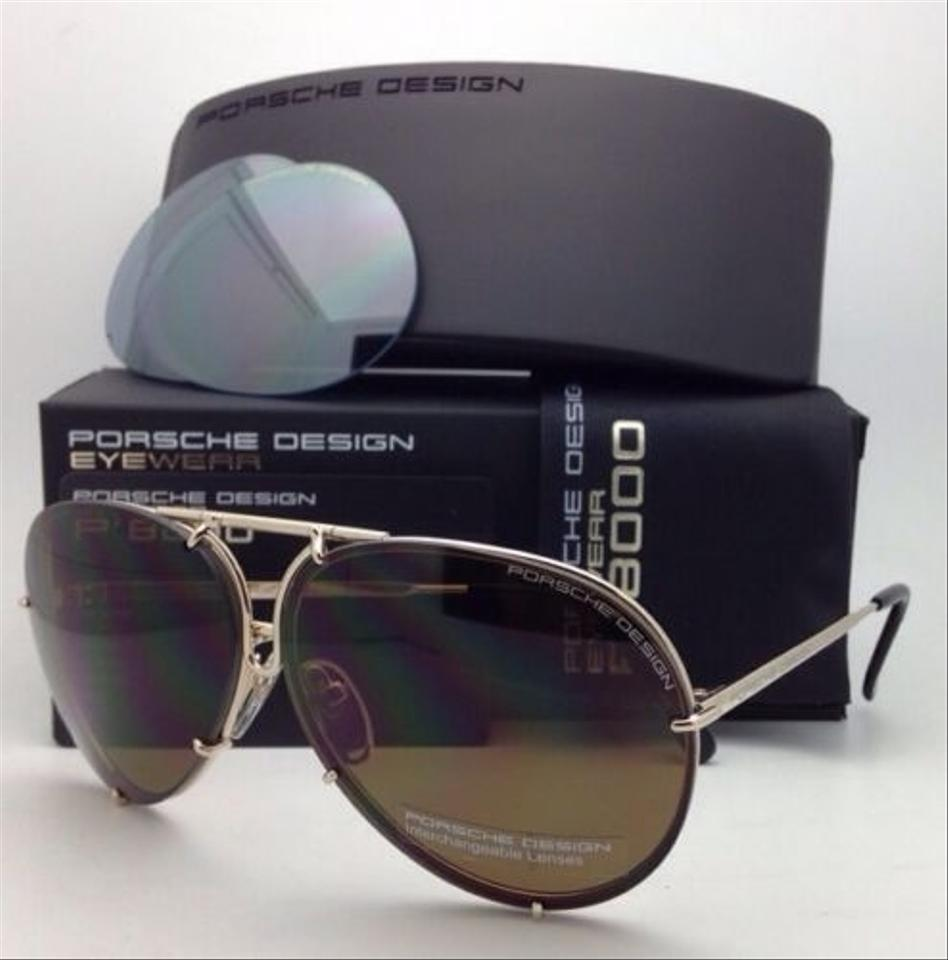 Porsche Design Gold Aviator Sunglasses