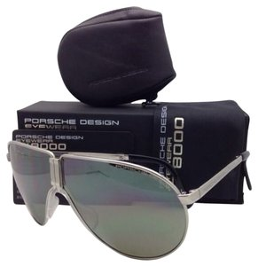 397196f05a6 PORSCHE DESIGN New PORSCHE DESIGN Titanium Folding Sunglasses P 8480 B  Silver Frame with Mirrored