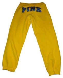 PINK Capris yellow and blue