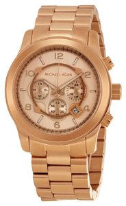 Michael Kors Rose Gold Stainless Steel Large Unisex Designer Watch