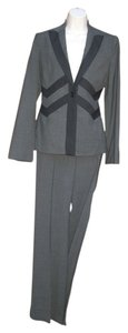 BCBGMAXAZRIA BCBG MAX AZRIA NEW Pants Jacket S 4 Wool Blend Chevron Behati Gray Suit