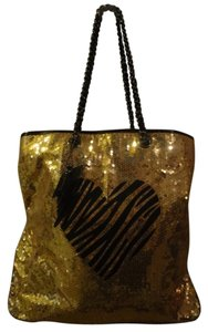 Betseyville Tote in gold and black