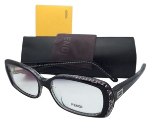 Fendi New FENDI Eyeglasses F931 001 52-15 135 Black & Clear Frames w/ Fendi Logos