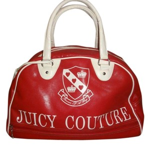 Juicy Couture red and white Travel Bag