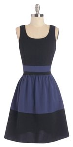 Doe & Rae short dress Black, blue on Tradesy