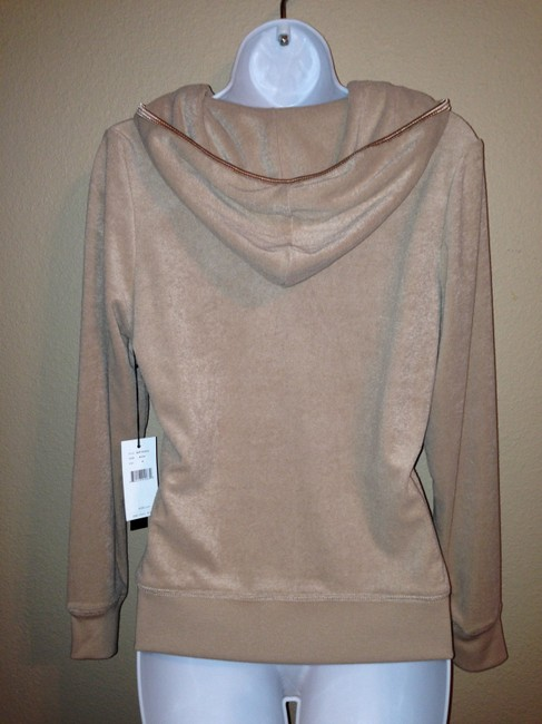 BCBGMAXAZRIA BCBGMaxAzria Embroidered Jacket Hoodie Camel Brown Medium