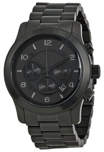 Michael Kors Black Ion Plated Unisex Stainless Steel Large Designer Watch
