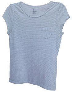 Gap Striped T Shirt Gray and White