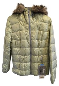 Eddie Bauer Down Faux Fur Hooded Coat