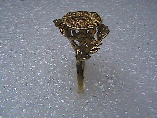 Vintage 14k Solid Yellow Gold Diamond Cut Aquarius Zodiac Ring