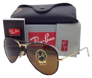 Ray-Ban New RAY-BAN Aviator Sunglasses RB 3025-J-M 001 58-14 Havana & Gold w/ Brown Lens