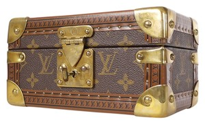 Louis Vuitton Trunk Case Rare Box Brown Travel Bag