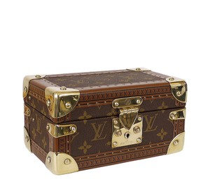 Louis Vuitton Trunk Case Rare Jewellery Case Brown Travel Bag