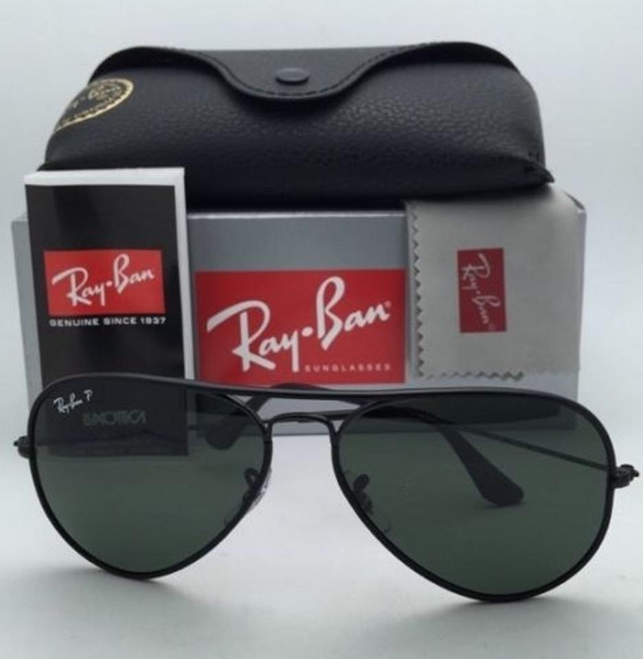 bb99a54453 Ray-Ban Rb 3025-j-m 002 58 Black W Polarized Green New Aviator Full Color  002 58 Frame W Polarized Lenses Sunglasses