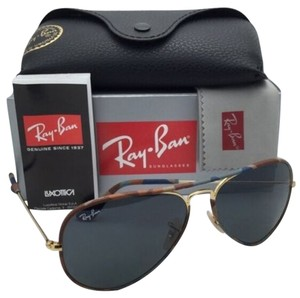 Ray-Ban New RAY-BAN Sunglasses Aviator Full Color RB 3025-J-M 170/R5 Multi-Color Camouflage Frame w/Grey Lenses