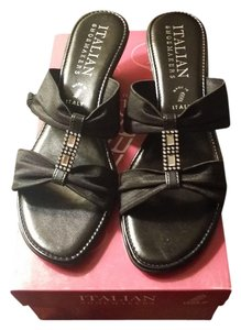 italian shoes maker Black Wedges