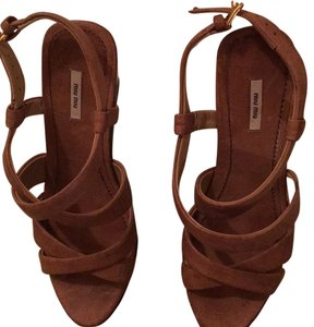 Miu Miu Camel color (light brown) Wedges