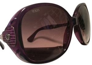 Tod's Tod's Purple Square Sunglasses with Reptile Temples