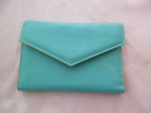 Other Cute! Turquoise wallet with yellow lining